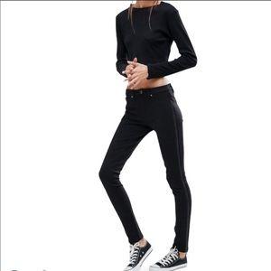 Dittos Maxine Side Zip Skinny Jeans Jeggings Black